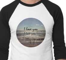 I Love You. Crash. Men's Baseball ¾ T-Shirt