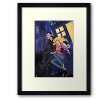 Space Hopping Framed Print