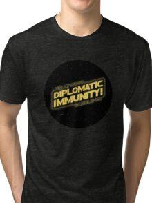 Hollywood Babble-On: Diplomatic Immunity! Tri-blend T-Shirt