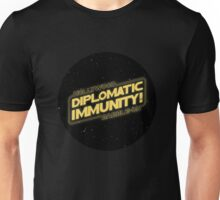 Hollywood Babble-On: Diplomatic Immunity! Unisex T-Shirt