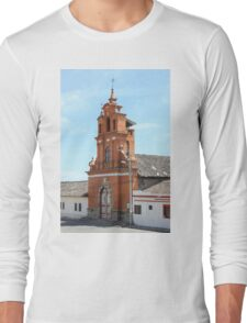Facade of Immantag Church Long Sleeve T-Shirt