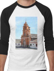 Facade of Immantag Church Men's Baseball ¾ T-Shirt