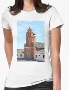 Facade of Immantag Church Womens Fitted T-Shirt