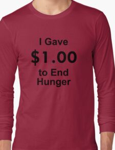 I Gave $1 To End Hunger – Randy Marsh, One Dollar, South Park Long Sleeve T-Shirt