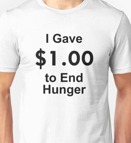 I Gave $1 To End Hunger – Randy Marsh, One Dollar, South Park Unisex T-Shirt