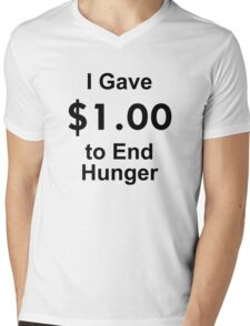I Gave $1 To End Hunger – Randy Marsh, One Dollar, South Park Mens V-Neck T-Shirt