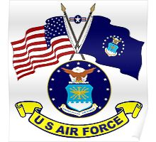 U. S & Air Force Crossed Flags Poster