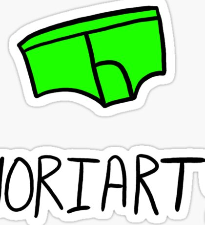 Moriarty - Black Outline Sticker