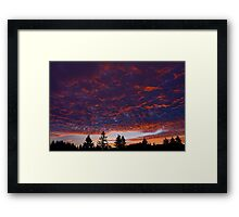 New Year Sunset Framed Print