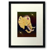 (◡‿◡✿) (◕‿◕✿) ELEPHANT WITH DIAMONDS  (◡‿◡✿) (◕‿◕✿) Framed Print