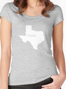 Texas State outline Women's Fitted Scoop T-Shirt