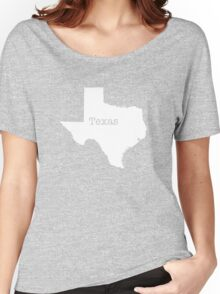 Texas State outline Women's Relaxed Fit T-Shirt