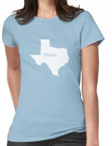 Texas State outline Womens Fitted T-Shirt