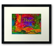 HOPE in All Colors Framed Print