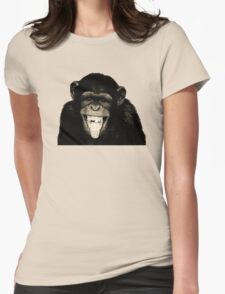 Monkey Sepia Womens Fitted T-Shirt