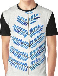 Blue Leaflets Graphic T-Shirt