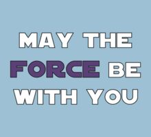 May the Force Be With You - Purple One Piece - Short Sleeve