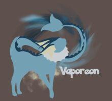 Vaporeon Silhouette Shirt Kids Clothes