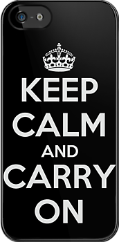 KEEP CALM and CARRY ON (Dark) by CalumCJL