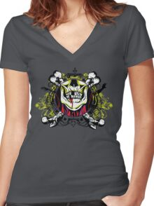 Zombie shield 1 Women's Fitted V-Neck T-Shirt