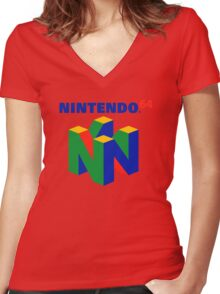 N64 Women's Fitted V-Neck T-Shirt