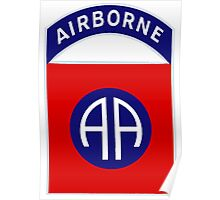 82nd Airborne Division - The All Americans Insignia Poster