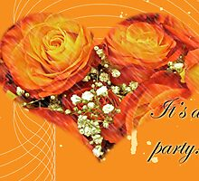 Party Invitation - Orange Roses by MotherNature
