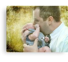 Daddy and his boy Canvas Print