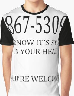 8675309 Jenny's Number  Graphic T-Shirt