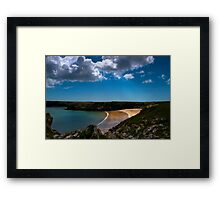 Barafundle From The Wall Framed Print