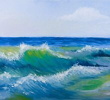 Sea waves  by torishaa