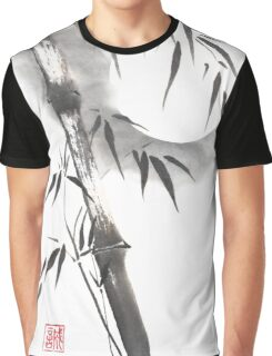 Moon blade bamboo sumi-e painting  Graphic T-Shirt