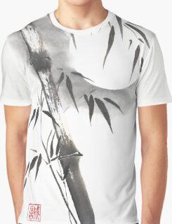 Moon blade bamboo sumi-e painting  Graphic T-Shirt