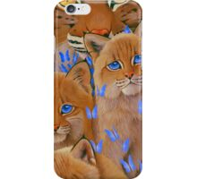 Bobcat Kittens2 iPhone Case/Skin