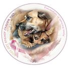 Breast Cancer Awareness-( In Dogs ) sticker by tinypaws