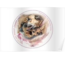 Breast Cancer Awareness-( In Dogs ) sticker Poster