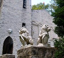 Lions Guard the Castle - the Pax Amicus Castle Theatre by Jane Neill-Hancock
