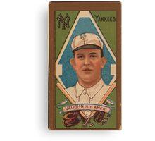 Benjamin K Edwards Collection James Vaughn New York Yankees baseball card portrait Canvas Print