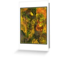 Five Faces Greeting Card