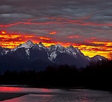 Sunrise over the Skykomish River by Jim Stiles