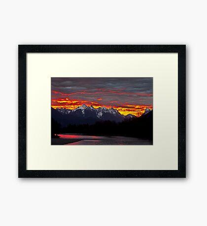 Sunrise over the Skykomish River Framed Print