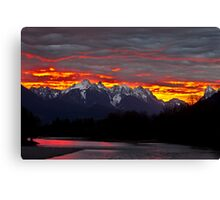 Sunrise over the Skykomish River Canvas Print