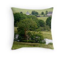 The River Tyne from Chesters Roman Fort UK Throw Pillow