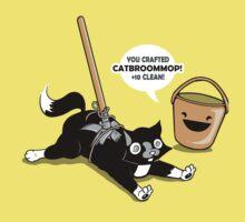 Cat Broom Mop | Geek Retro Gamer One Piece - Short Sleeve