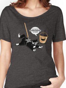 Cat Broom Mop | Geek Retro Gamer Women's Relaxed Fit T-Shirt