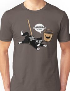 Cat Broom Mop | Geek Retro Gamer Unisex T-Shirt