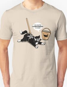 Cat Broom Mop | Geek Retro Gamer Unisex T-Shirt
