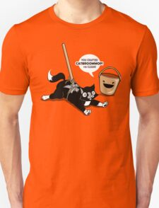 Cat Broom Mop   Geek Retro Gamer Unisex T-Shirt