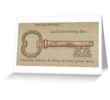 You Are the Key Greeting Card