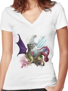 Discord Shirt Women's Fitted V-Neck T-Shirt